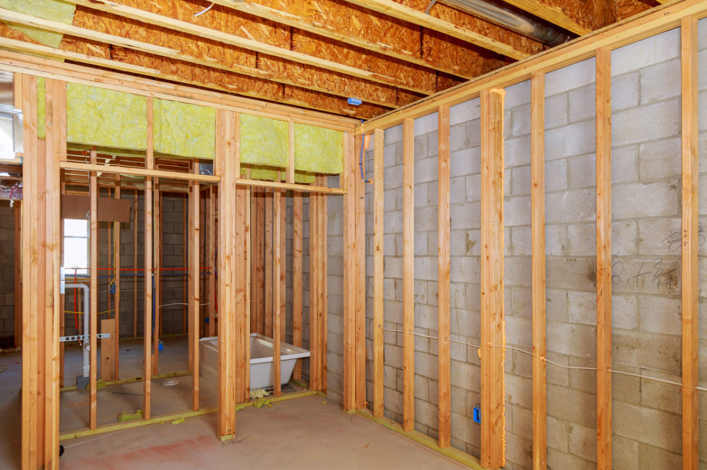 This Is A Picture Of A Basement Being Framed Out For A Larger Client In The Delaware County Area