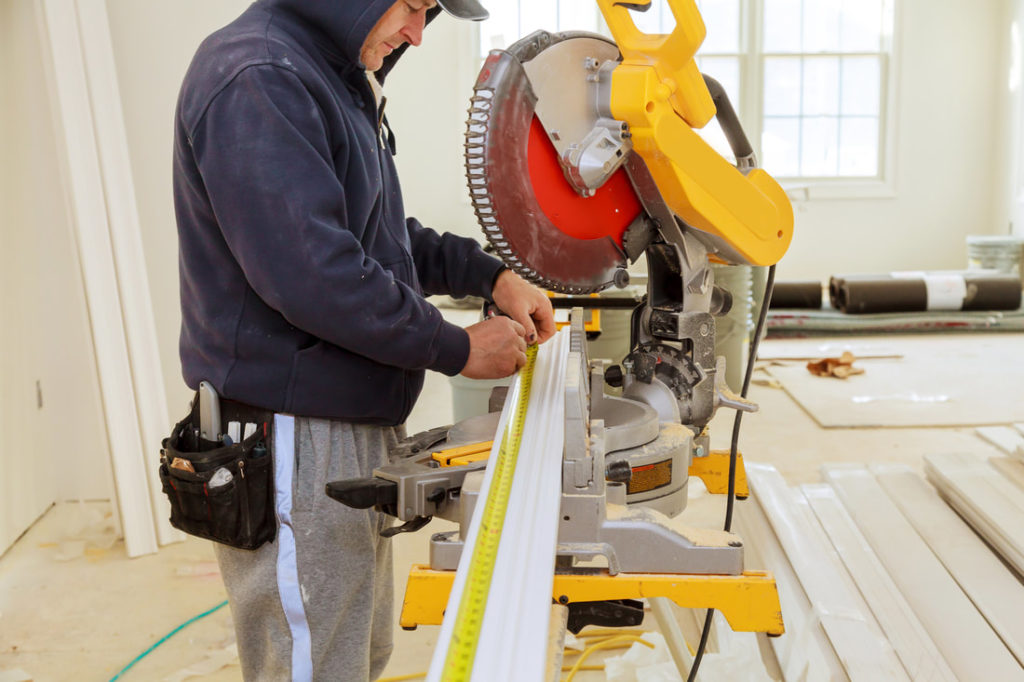 Picture Of Joe Cutting Trim For A Big Job For Delaware County Handyman