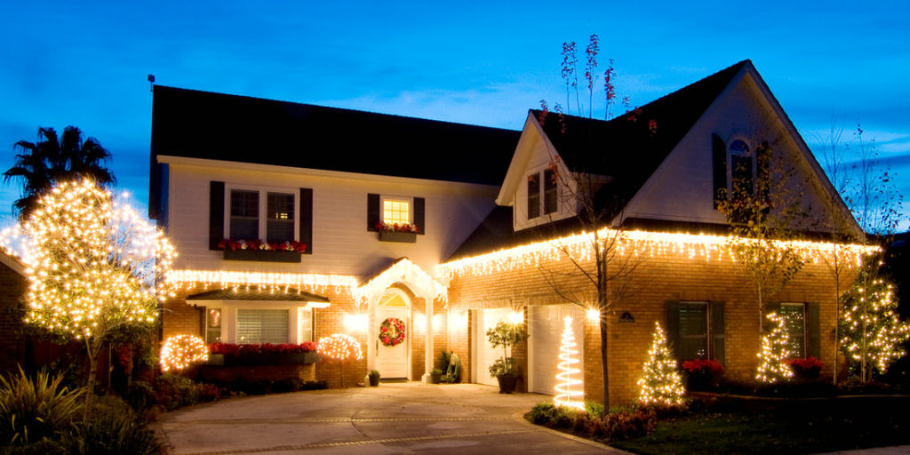 Picture Of Delaware County Handyman Picture Of Holiday Lights After Being Installed And Set Up In Delaware County Pa