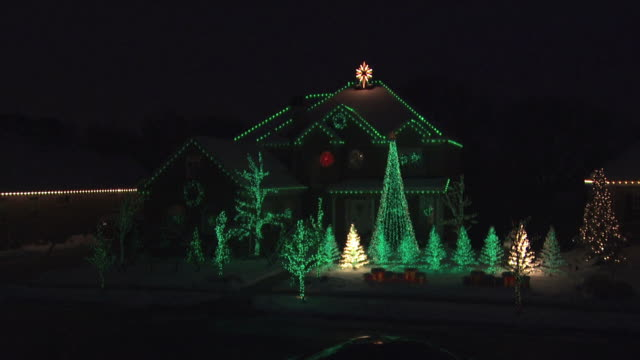 Picture Of Holiday Light Display Installed And Removed By Delaware County Handyman